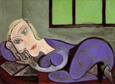 """""""Mujer acostada leyendo'' de Pablo Picasso"""