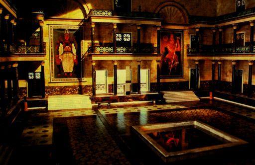 Foto de la reconstrucción de la Biblioteca de Alejandría