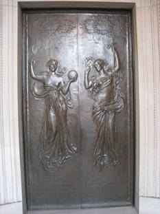 Image:Right door by Daniel Chester French, Boston Public Library.jpg